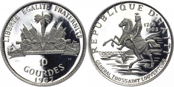 HAITI 10 Gourdes 1967 - General Toussaint Louverture