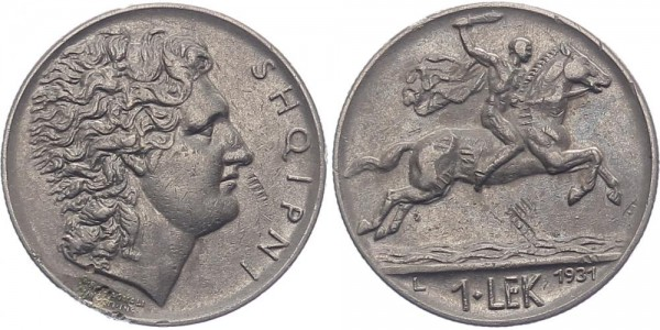 Albanien 1 Lek 1931 L