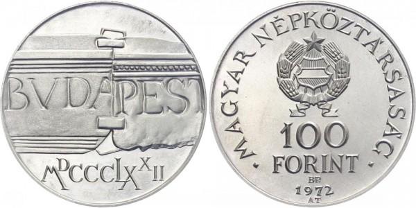 Ungarn 100 Forint 1972 Budapest 100 Jahre Buda & Pest