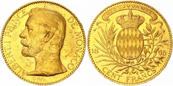 Monaco 100 Francs 1895 A Albert I. 1889-1922