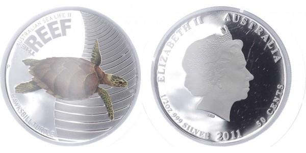 Australien 50 Cents 2011 - Hawksbill Turtle