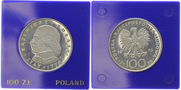 Polen 100 Zlotych 1976 - Kazimierz Pulaski