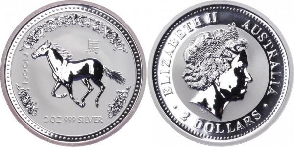 Australien 2 Dollars 2002 - Jahr des Pferdes