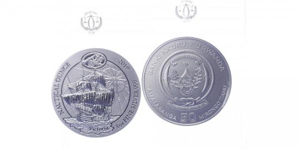 Ruanda 50 Francs 2019 - Segelschiff Victoria