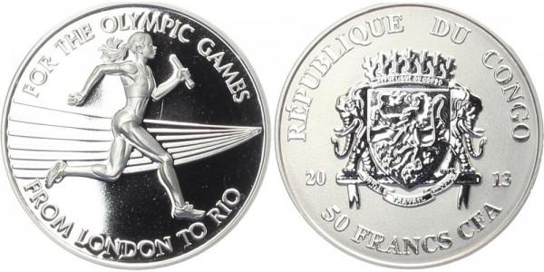 Kongo 50 Francs 2013 - Olympia