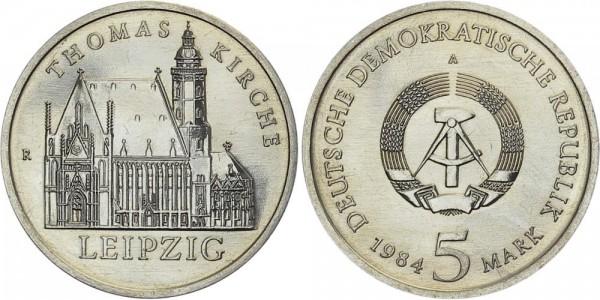 DDR 5 Mark 1984 A Thomaskirche Leipzig