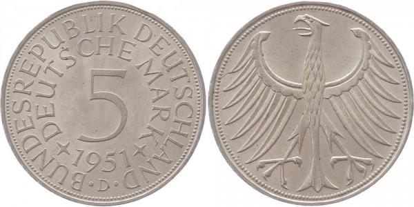 BRD 5 Mark 1951 D Kursmünze