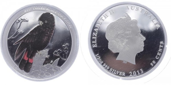 Australien 50 Cents 2013 - Red-Tailed Black-Cockatoo