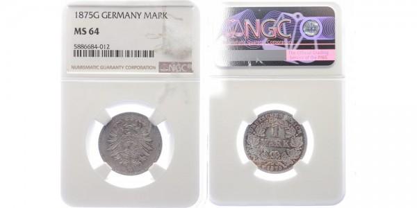 Kaiserreich 1 Mark 1875 G