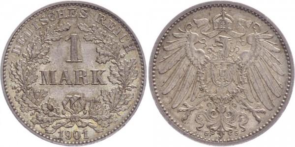 Kaiserreich 1 Mark 1901 G Kursmünze