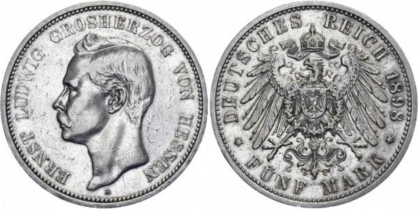 HESSEN 5 Mark 1898 A Ernst Ludwig