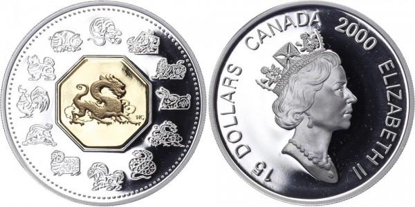 Kanada 15 Dollars 2000 - Jahr des Drachen