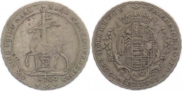 Stolberg 1/2 Konv.-Taler 1763 - Friedrich Botho zu Stolberg-Rossla und Karl Ludwig zu Stolberg-Stol