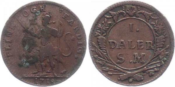 Schweden 1 Daler 1718 - Karl XII.