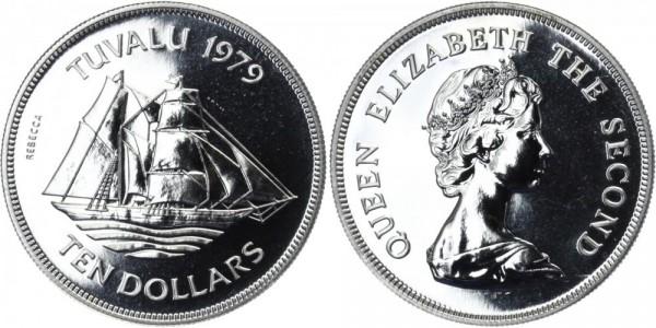 TUVALU 10 Dollars 1979 - 1. Jahrestag der Unabhängigkeit