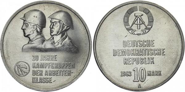DDR 10 Mark 1983 A 30 Jahre Kampfgruppen