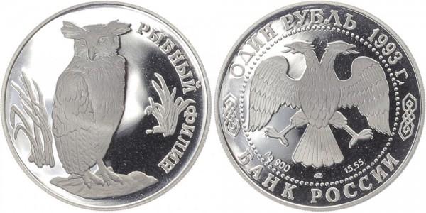 Russland 1 Rubel 1993 - Fischuhu