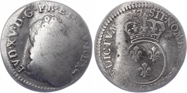 Frankreich 1/10 Ecu 1717 - Ludwig XV.