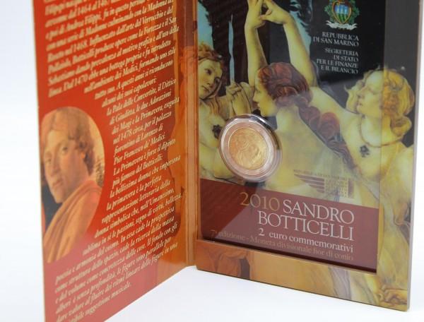 San Marino 2 Euro 2010 Sandro Botticelli