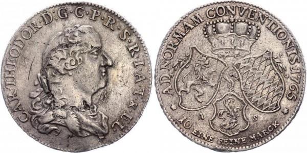 Pfalz-Sulzbach Taler 1765 - Karl Theodor (1742-1799)