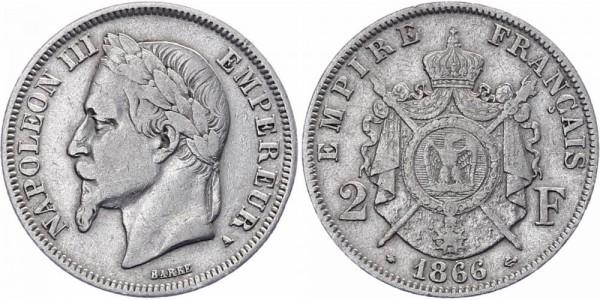 Frankreich 2 Francs 1866 - Napoleon III.