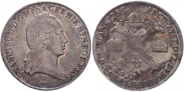 RDR/Österreich/Haus Habsburg Kronentaler 1795M Mailand Franz II. / I. ( 1792 - 1835 )