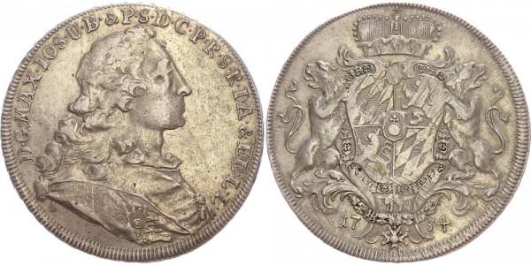 Bayern Taler 1754 D Maximilian III. J., Wappentaler
