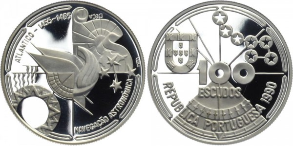 PORTUGAL 100 ESC 1990 - Entdeckungsreise über den Atlantik
