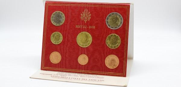 Vatikan 3,88 Euro ( 1 Cent - 2 Euro ) 2008 KMS 1 Cent bis 2€
