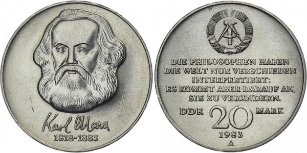 DDR 20 Mark 1983 A 100. Todestag Karl Marx