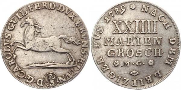 Braunschweig 2/3 Thaler 1789 - 24 Mariengroschen