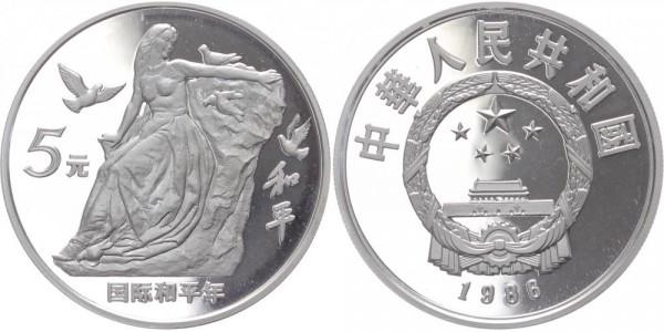 China 5 Yuan 1986 - Jahr des Friedens