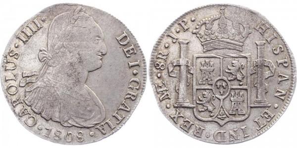 Peru 8 Reales 1808 Limae JP Charles IV.