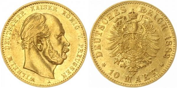Preussen 10 Mark 1882 A Wilhelm I.
