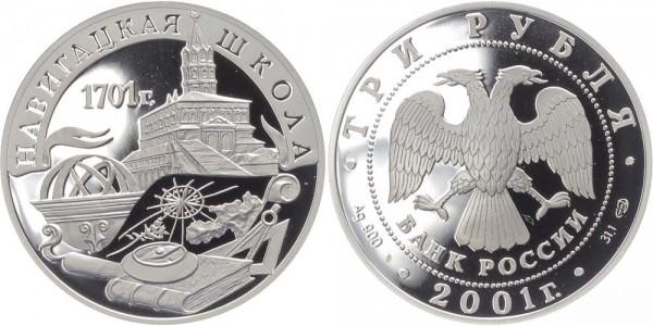 Russland 3 Rubel 2001 - Marineakademie