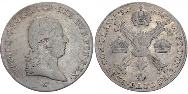 RDR 1/4 Kronentaler 1791 A (Wien) Leopold II. (1790 - 1792)