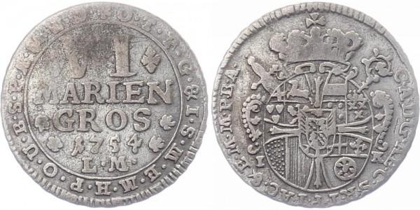Münster Bistum VI Mariengroschen 1754 - Clemens August