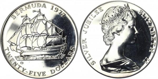 BERMUDA 25 Dollars 1977 - 25 J. Regierungsjubiläum der Queen