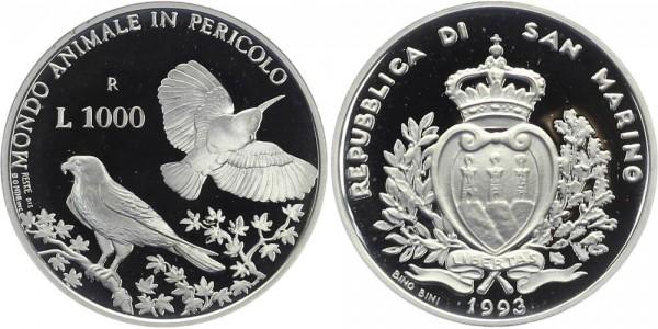 SAN MARINO 1000 Lire 1993 - Vögel