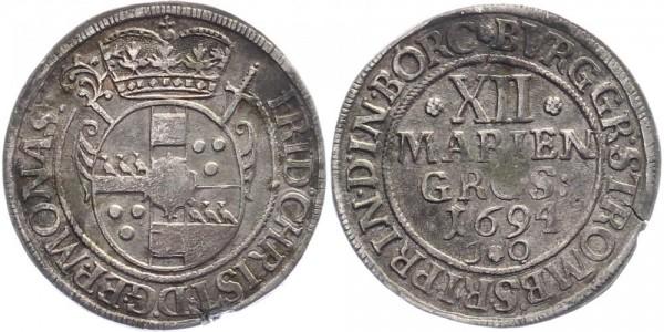 Münster 12 Mariengroschen 1694