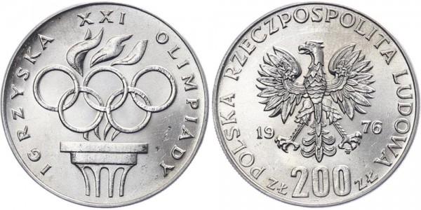 Polen 200 Zlotych 1976 - 21. Olympische Spiele