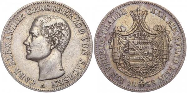 Sachsen-Weimar-Eisenach Taler 1858 - Carl Alexander