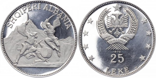 Albanien 25 Leke 1970 - Schwerttänzer