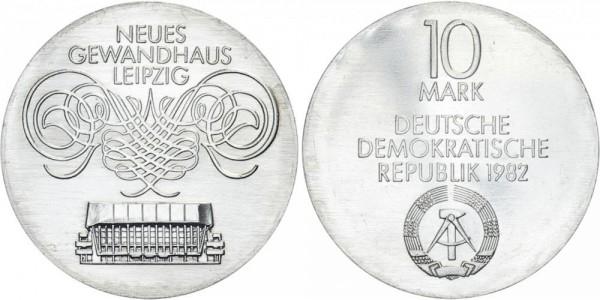 DDR 10 Mark 1982 A Gewandhaus Leipzig