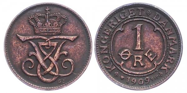 Dänemark 1 Öre 1909 - Kursmünze