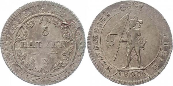 Schweiz 5 Batzen 1800 B Kursmünze