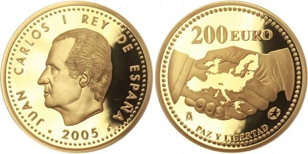 Spanien 200 Euro 2005 - Europäischer Frieden und Freiheit