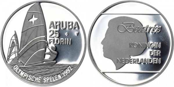NIEDERLANDE 25 Florin 1992 - Olympische Spiele 1992