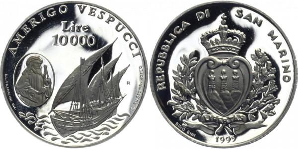 SAN MARINO 10000 Lire 1995 - Amerigo Vespucci