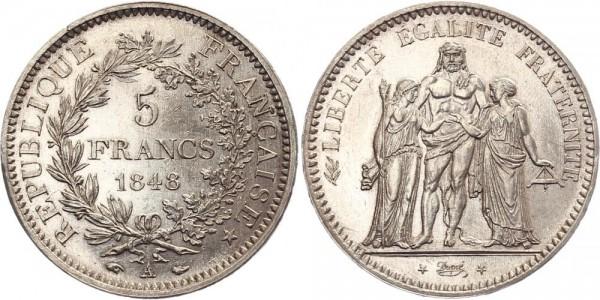 Frankreich 5 Francs 1848